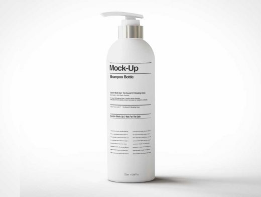 Cosmetic Pump Bottle Nozzle Lotion Dispenser PSD Mockup