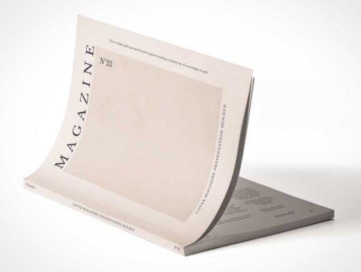 Magazine Publication Subscription Edition Cover PSD Mockup