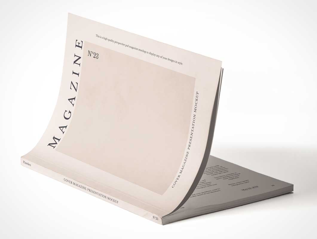 Magazine Publication Subscription Edition Cover PSD Mockup