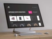 Microsoft Surface Desktop Workstation PSD Mockup