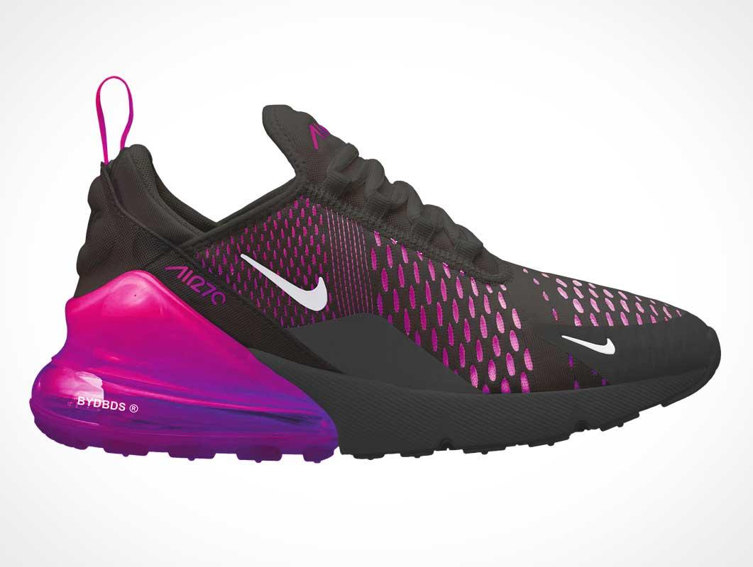 Nike Air Max 270 Running Shoe Branding PSD Mockup