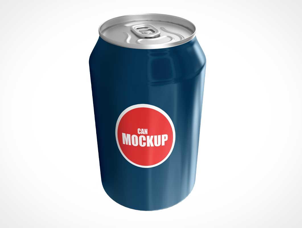 Aluminium Soda Pop Can & Pull Tab PSD Mockup