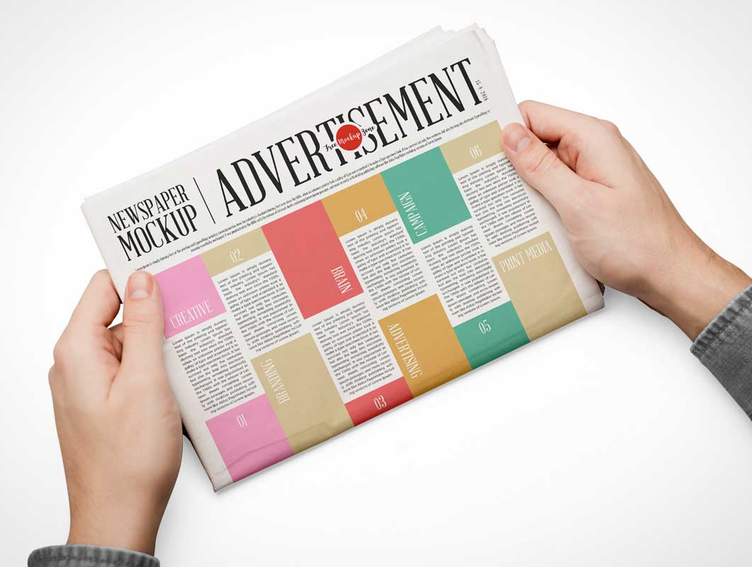 Daily Front Page Newspaper Edition PSD Mockup