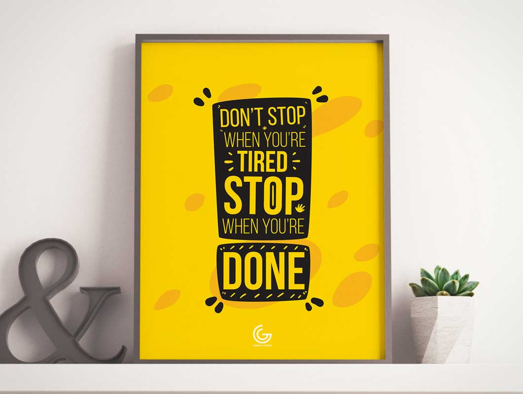 Framed Poster on Wall Shelf & Plant PSD Mockup