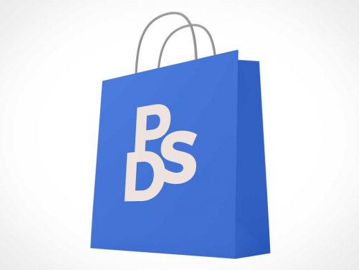 Large Paper Shopping Bag & String Handles PSD Mockup