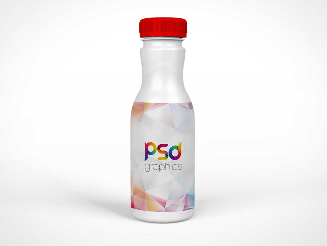 Twist Cap Sealed Plastic Yogurt Bottle PSD Mockup