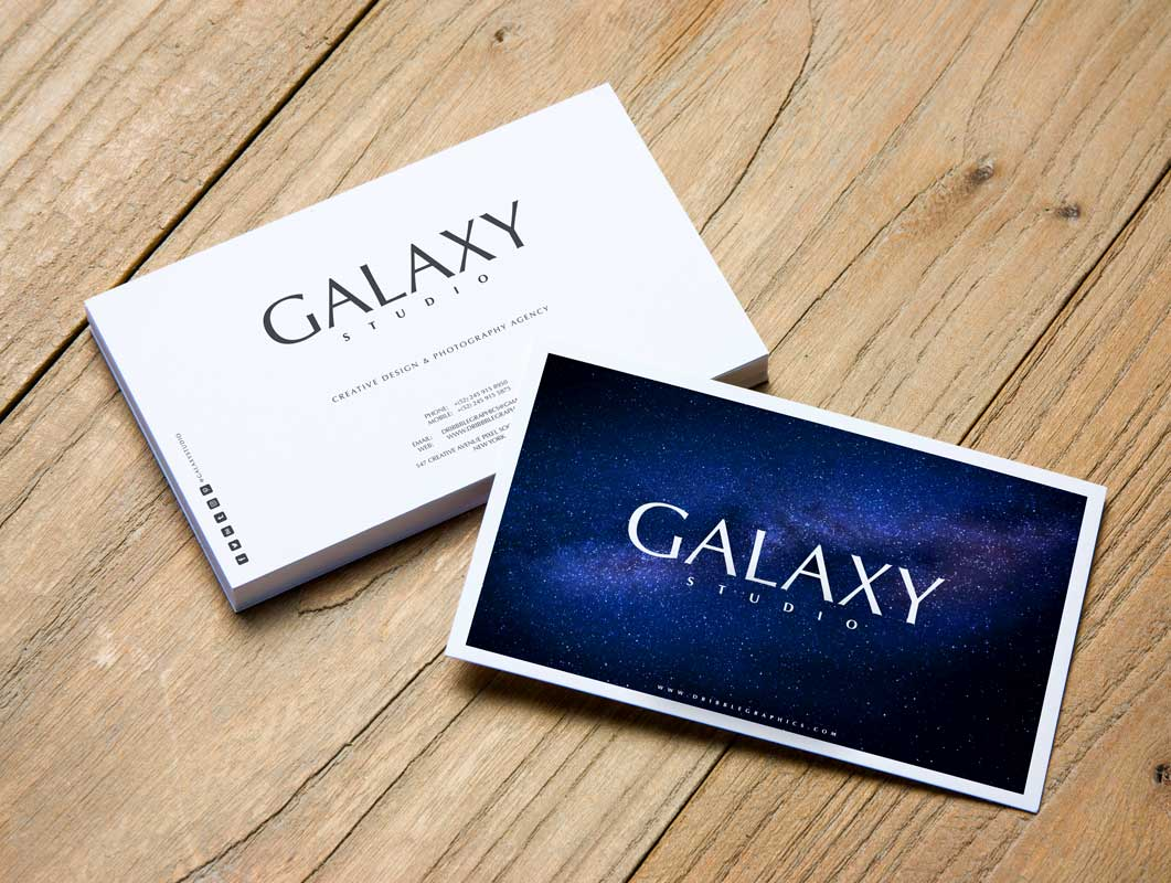 Business Card Branding Front & Back Presentation PSD Mockup