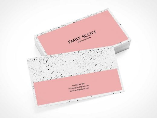 Corporate Business Card Stack Presentation PSD Mockup