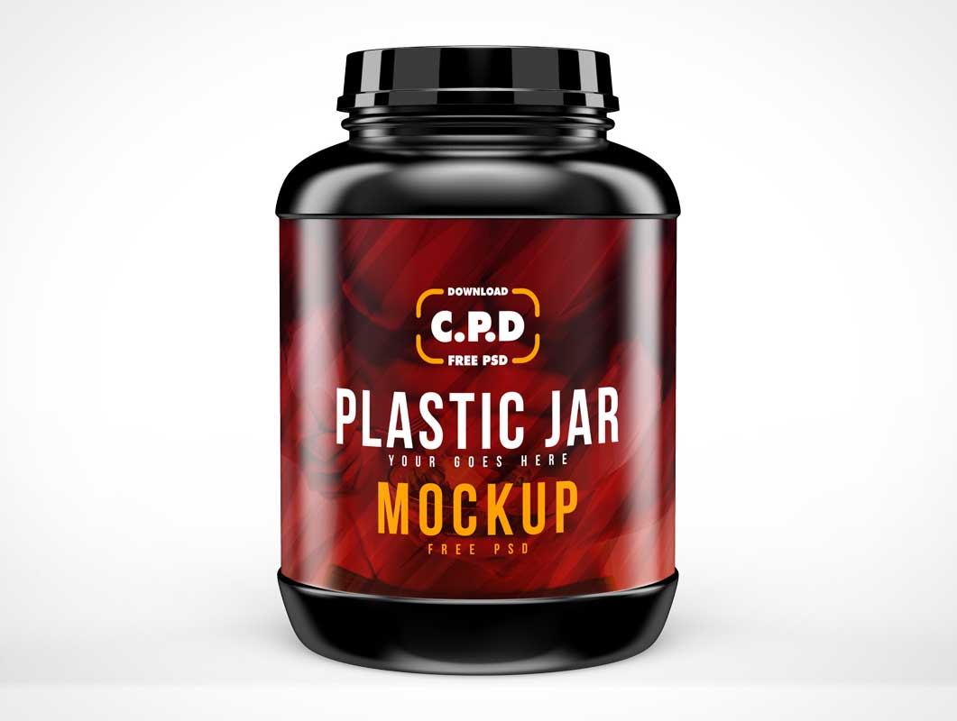 Energy Protein Container & Twist Lid PSD Mockup