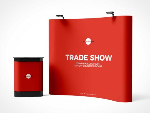 Exhibition Trade Show Booth Display PSD Mockup