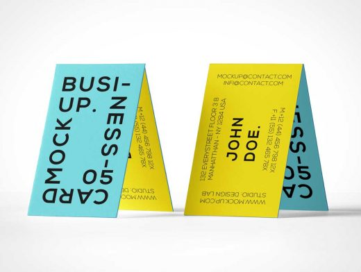 House of Cards Business Card Front & Back PSD Mockup