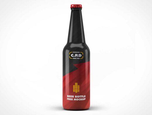 Longneck Twist Cap Beer Bottles PSD Mockup