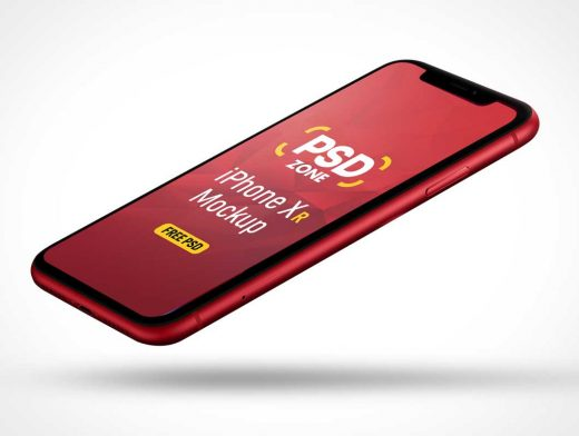 Mobile iPhone XR Product RED PSD Mockup