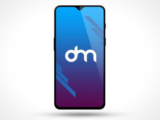 OnePlus 6T Smartphone Front PSD Mockup