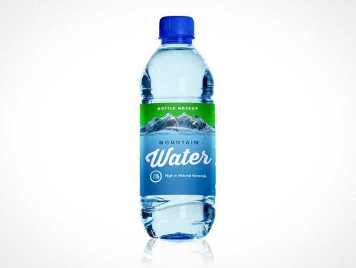 PET Plastic Water Bottle Front Label PSD Mockup