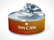 Round Tin Tuna Can PSD & Pull Tab Mockup