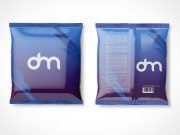 Sealed Foil Snack Food Pouch Front & Back PSD Mockup