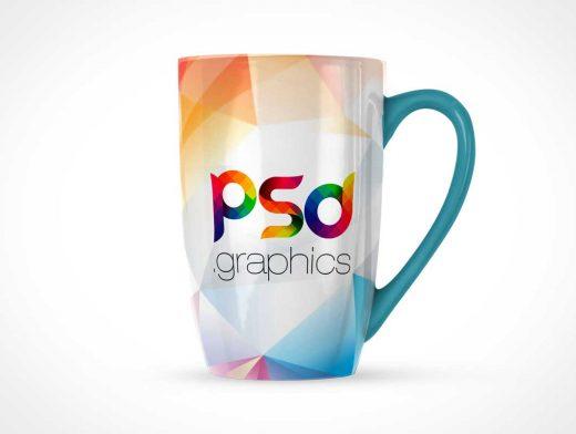 Ceramic Marrow Coffee Mug PSD Mockup