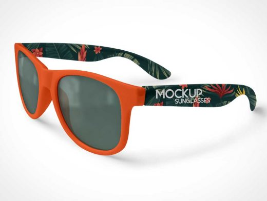 Eyewear UV Sunglasses PSD Mockup