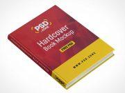 Floating Hardcover Book Cover & Spine PSD Mockup