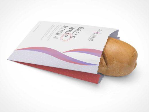 Fresh Bread Loaf Branded Bag Packaging PSD Mockup