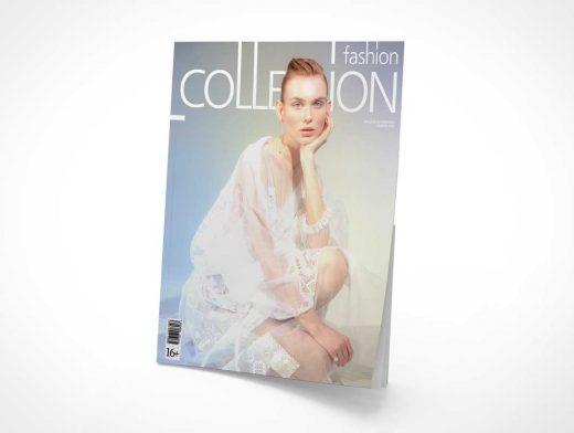 Publication Magazine Cover PSD Mockup