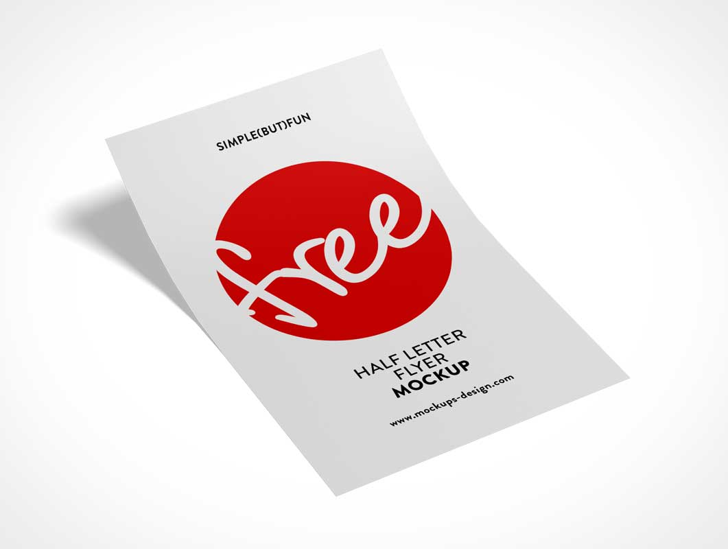 Single Panel Half Flyer Front PSD Mockup