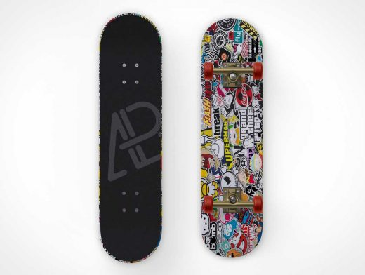 Skateboard Grip Tape Surface & Undercarriage Kit PSD Mockup