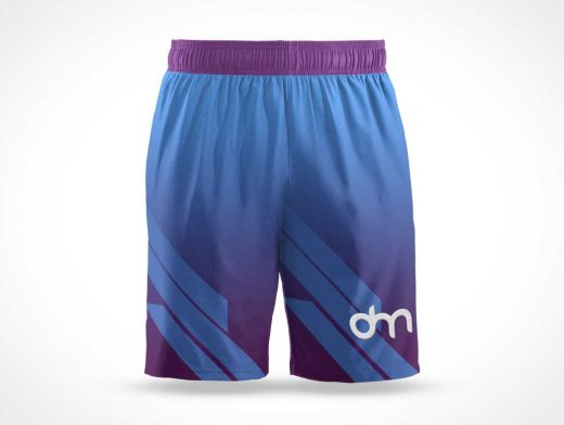 Sport Shorts & Elastic Waistband PSD Mockup