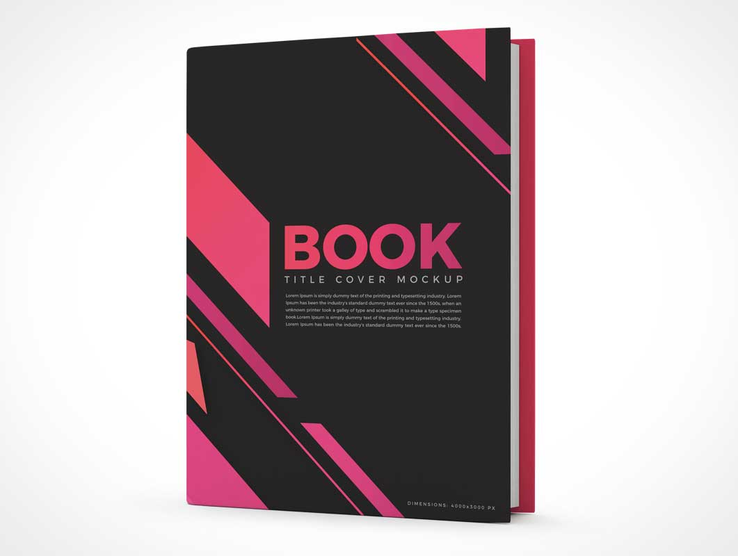 Standing Hardcover Edition Book Front PSD Mockup