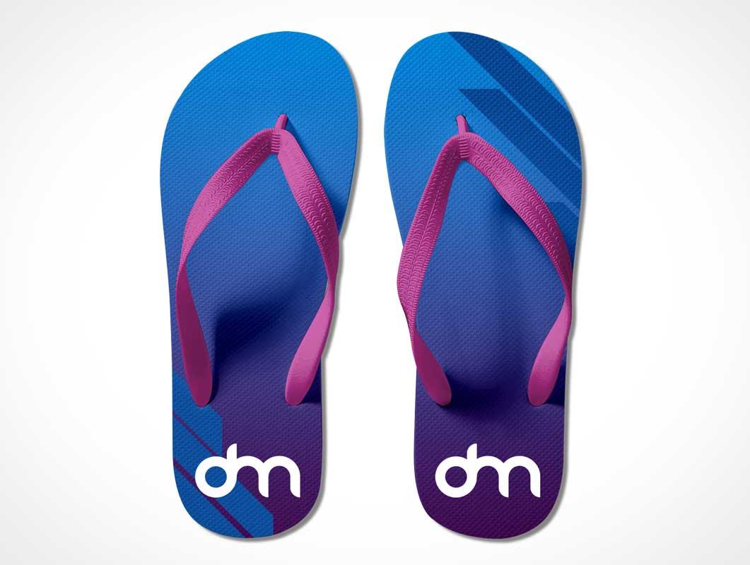 Summer Footwear Flip-Flop Slippers PSD Mockup