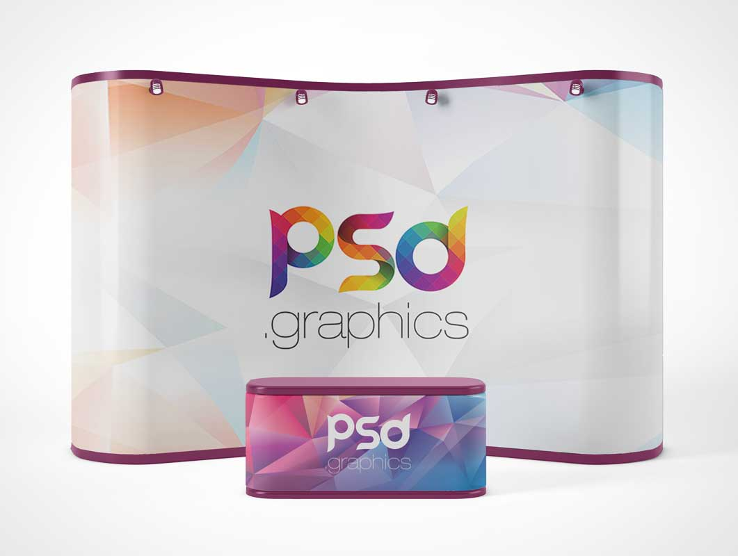 Trade Show Exhibition Booth Display PSD Mockup