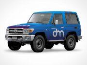 4X4 Land Cruiser Truck PSD Mockup