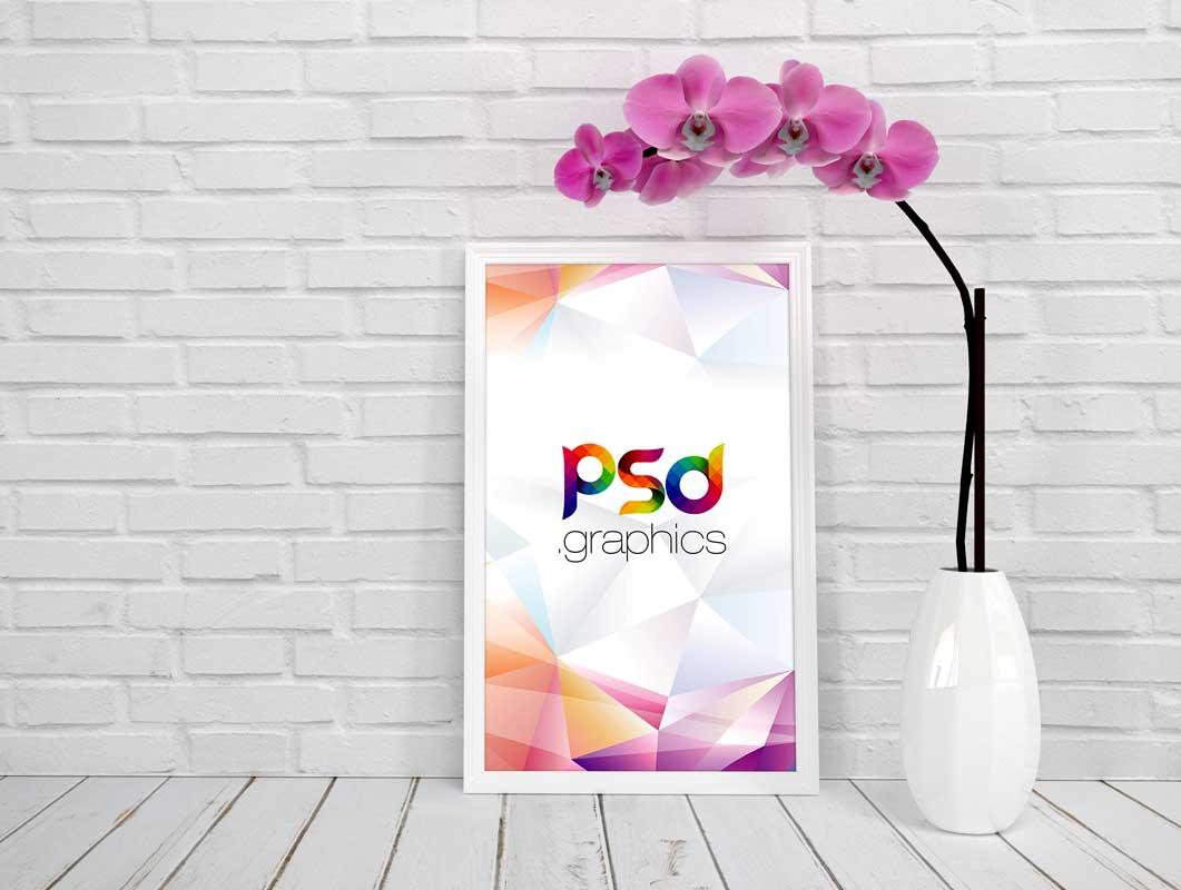 Beveled Picture Frame PSD Mockup