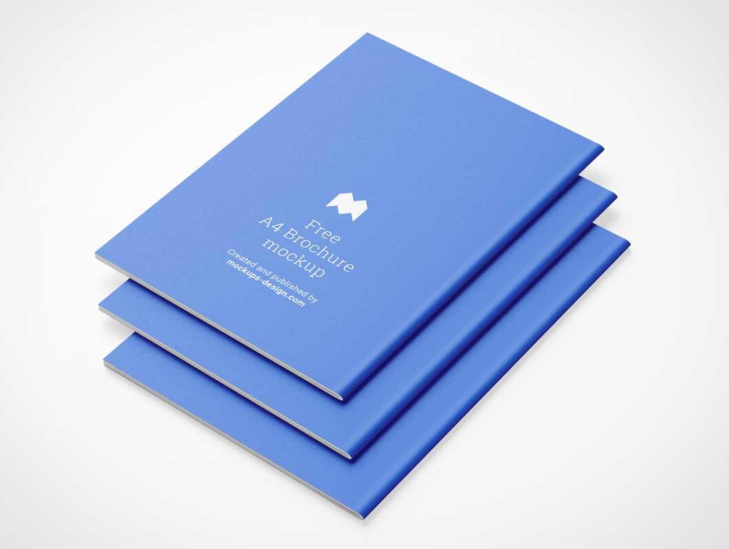 Catalog Brochure Publication Stack PSD Mockup