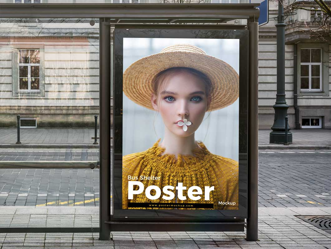 Outside Advertising Billboard Poster PSD Mockup