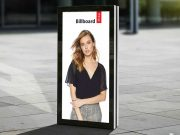 Portrait Mode Outdoor Billboard Poster PSD Mockup
