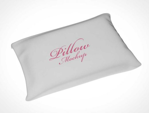 Rectangular Pillow & Cotton Cover PSD Mockup