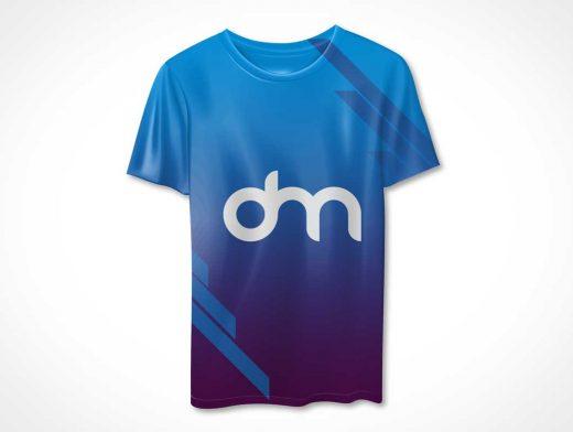 Round Collar T-Shirt Front PSD Mockup