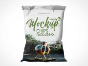Sealed Chip Bag PSD Mockup