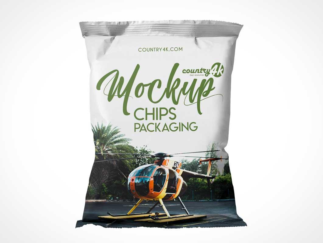 Sealed Chip Bag PSD Mockup