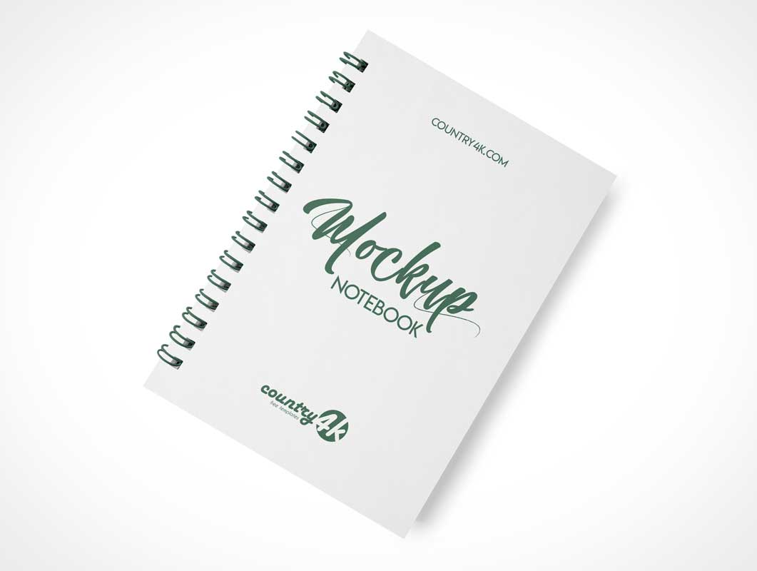 Spiral Notebook Cover PSD Mockup