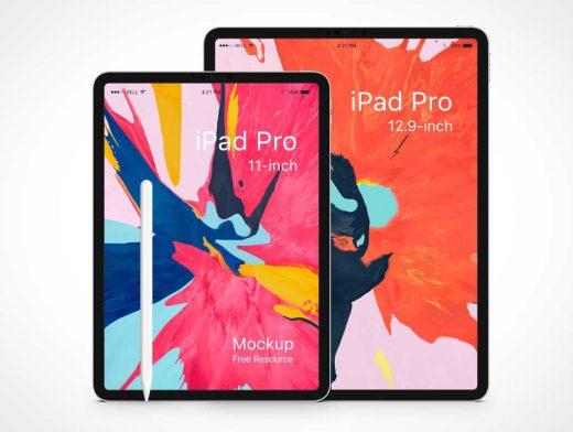 iPad Pro Mobile Tablets & Stylus PSD Mockup