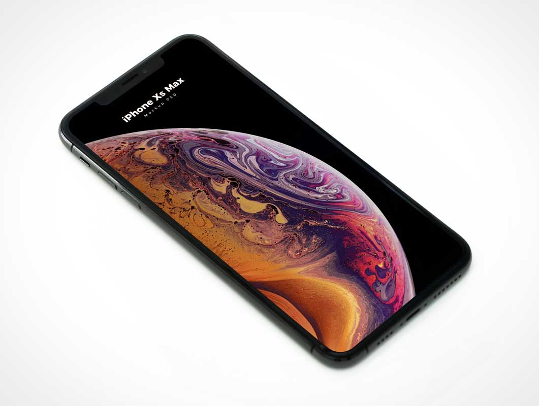iPhone XS Max Smartphone Display PSD Mockup
