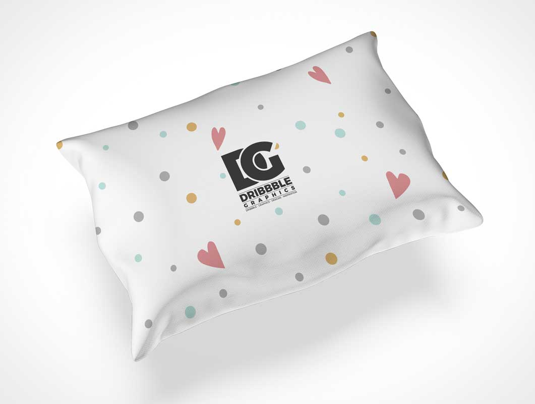 Bedroom Throw Pillow Case PSD Mockup