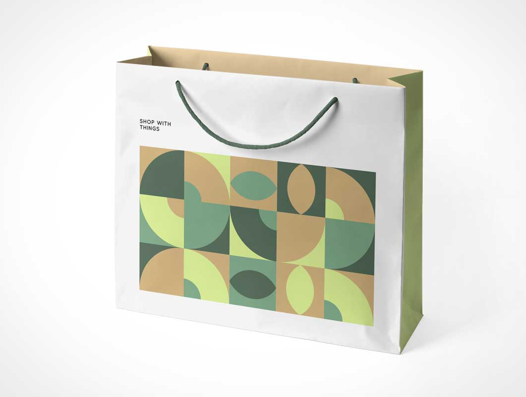 Boutique Shopping Bag & Carry Handles PSD Mockup