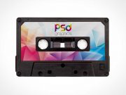 C90 Compact Cassette Tape PSD Mockup