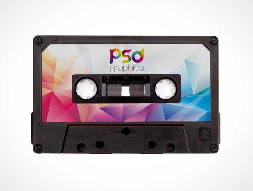C90 Compact Cassette Tape PSD Mockup