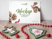 Christmas Party Invitation Card PSD Mockup