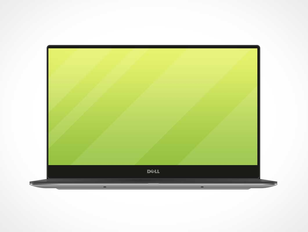 Dell Mobile Laptop Workstation PSD Mockup